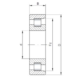 180 mm x 380 mm x 75 mm  ISO NF336 cylindrical roller bearings