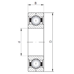ISO Q336 angular contact ball bearings