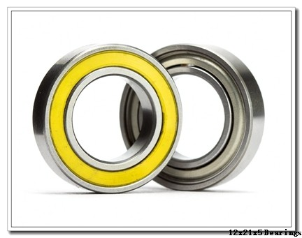 12 mm x 21 mm x 5 mm  NACHI 6801ZE deep groove ball bearings