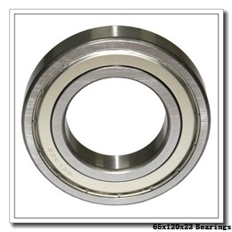 65 mm x 120 mm x 23 mm  SKF 6213-2ZNR deep groove ball bearings