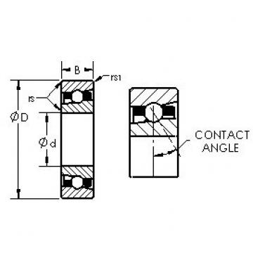 AST H7032C angular contact ball bearings