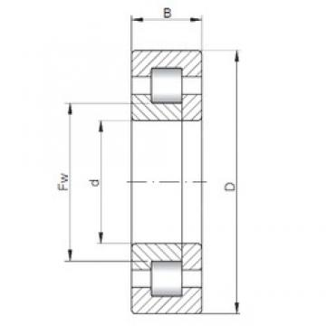 160 mm x 240 mm x 38 mm  ISO NUP1032 cylindrical roller bearings