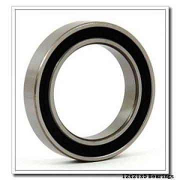 12 mm x 21 mm x 5 mm  Loyal 61801 deep groove ball bearings