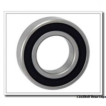12 mm x 28 mm x 8 mm  Fersa 6001 deep groove ball bearings