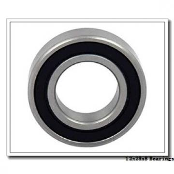 12 mm x 28 mm x 8 mm  ISO 6001 ZZ deep groove ball bearings