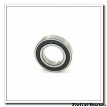 30 mm x 47 mm x 9 mm  ISB SS 61906 deep groove ball bearings