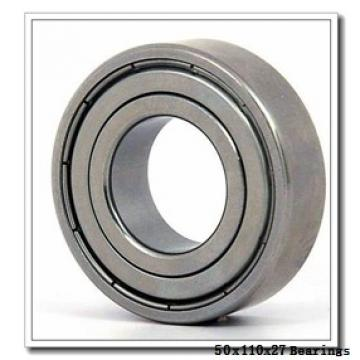 50 mm x 110 mm x 27 mm  NACHI 7310DT angular contact ball bearings