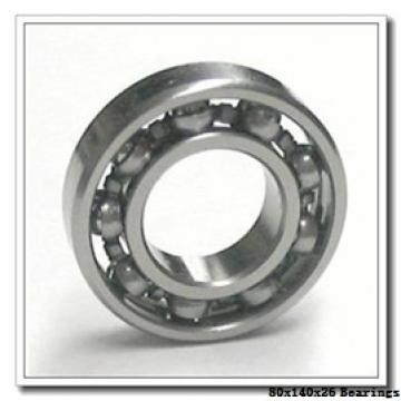 80 mm x 140 mm x 26 mm  NACHI 7216DF angular contact ball bearings