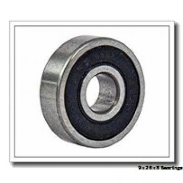 9 mm x 26 mm x 8 mm  KOYO 129 self aligning ball bearings